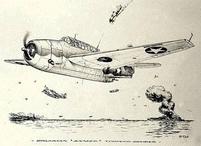 Grumman Tbf-1 Avenger Print by Hank Clark