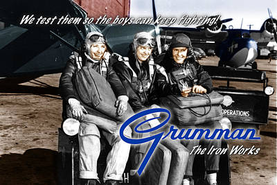 Digital Art - Grumman Test Pilots by The Grumman Store