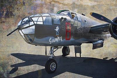 Grumpy  B-25 D Mitchell Bomber  /  43-3318 Art Print by Daniel Hagerman