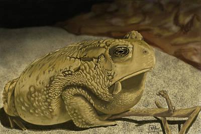Iphone4 Digital Art - Grumpy Frog by Jason Yaw