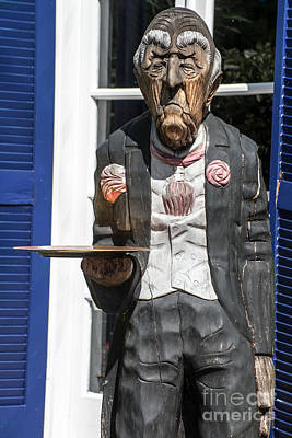 Grumpy Old Waiter Carving Key West  Art Print