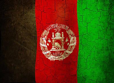 Digital Art - Grunge Afghanistan Flag by Steve Ball