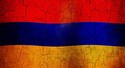 Digital Art - Grunge Armenia Flag  by Steve Ball