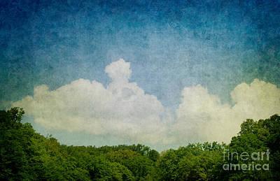 Grunge Background With Landscape Art Print