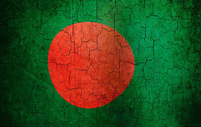 Digital Art - Grunge Bangladesh Flag by Steve Ball
