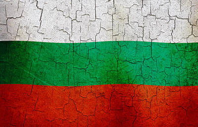 Digital Art - Grunge Bulgaria Flag by Steve Ball