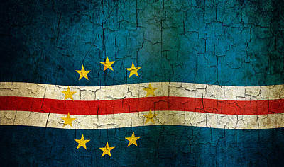 Digital Art - Grunge Cape Verde Flag by Steve Ball