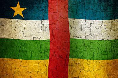 Digital Art - Grunge Central African Republic Flag by Steve Ball