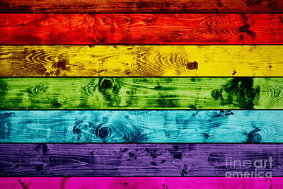 Sex Photograph - Grunge Colorful Wood Planks Background by Michal Bednarek