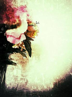 Photograph - Grunge Flowers by Isabella F Abbie Shores