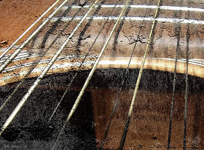 Grunge Guitar Art Print