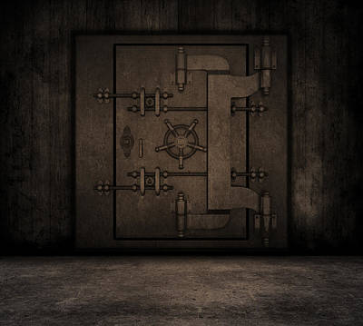 Grunge Interior With Bank Vault Art Print by Kirsty Pargeter