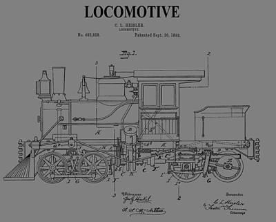 Grunge Locomotive Art Print