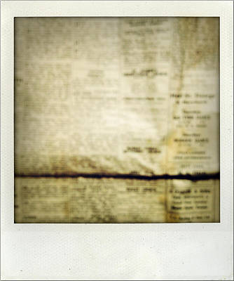 Vintage Photograph - Grunge Newspaper by Les Cunliffe
