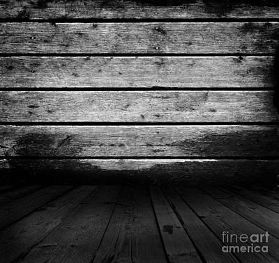 Lines Photograph - Grunge Rustic Real Wood Planks Floor by Michal Bednarek