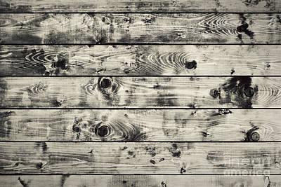 Backdrop Photograph - Grunge Rustic Wood Wall Background by Michal Bednarek