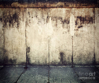 Concrete Photograph - Grunge Rusty Concrete Wall Background by Michal Bednarek