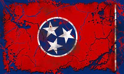 Studio Grafika Zodiac - Grunge Style Tennessee Flag by David G Paul