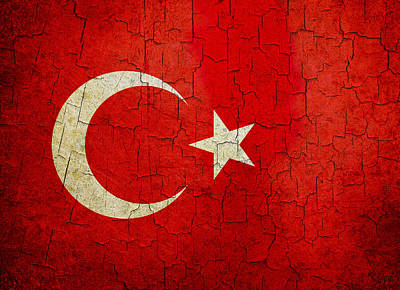 Grunge Turkey Flag Art Print