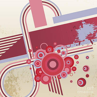 Spot Wall Art - Digital Art - Grunge Vector Abstract  Background by Storoch