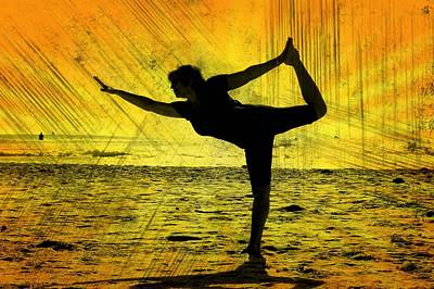 Woman Doing Yoga Photograph - Grunge Yoga by Fraida Gutovich