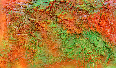 Orange Abstract New Media  Art Print