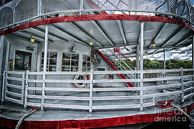 Photograph - Grungy Riverboat Deck by Danny Hooks