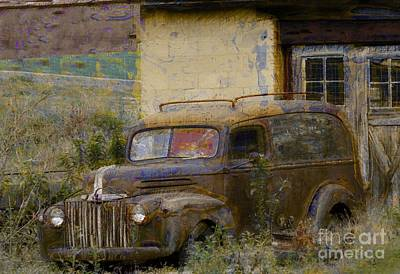Photograph - Grungy Vintage Ford Panel Truck by Liane Wright