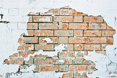 Whiteboard Photograph - Grungy Wall by Tom Gowanlock