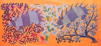 Shambu Dayal Shyam Painting - Gsds 01 by Shambu Dayal Shyam