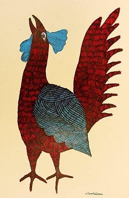 Gond Tribal Art Painting - Gst 10 by Gareeba Singh Tekam
