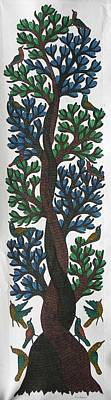 Gond Tribal Art Painting - Gst 30 by Gareeba Singh Tekam