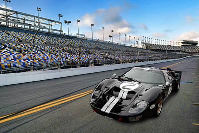 Photograph - Gt40 At Daytona by Bill Dutting