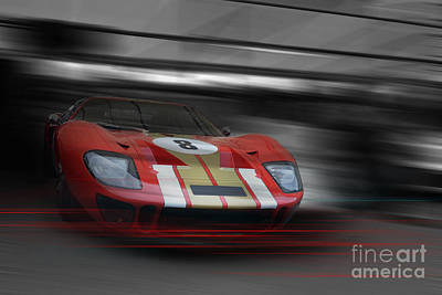 Gt40 Red Art Print by Roger Lighterness