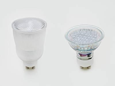 Gu10 Compact Fluorescent Lightbulb Art Print