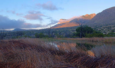Guadalupe Mountains Sunrise Art Print by Stephen  Vecchiotti