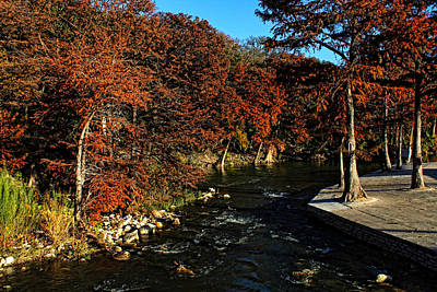 Photograph - Guadalupe River 2 by Judy Vincent