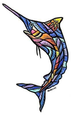 Painting - Guam Marlin 2009 by Marconi Calindas