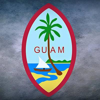 Canoe Digital Art - Guam Territory Seal by Movie Poster Prints