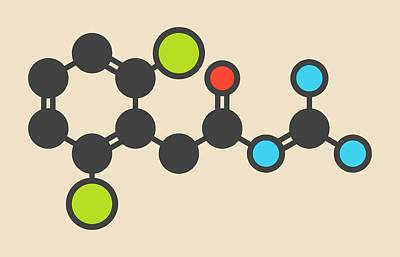 Guanfacine Adhd Drug Molecule Art Print