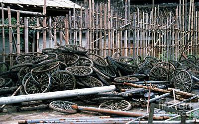 Photograph - Guangzhou Tires by Scott Shaw
