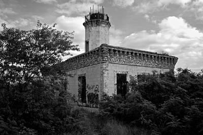 Photograph - Guanica Lighthouse B W 1 by Ricardo J Ruiz de Porras