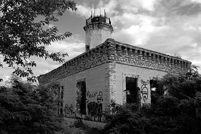 Photograph - Guanica Lighthouse B W 2 by Ricardo J Ruiz de Porras