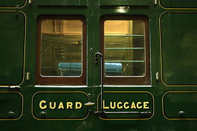 Rolling Luggage Photograph - Guard And Luggage Car by Paul Williams