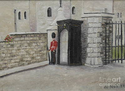 Guard At Windsor Castle Art Print