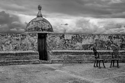 Guard Tower And Chairs Art Print