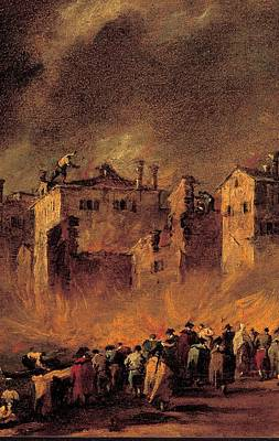 The Warehouse Gallery Photograph - Guardi Francesco, Fire In The San by Everett