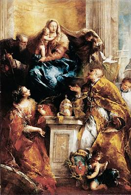 Guardi Giovanni Antonio, Madonna Art Print