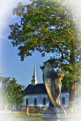 Photograph - Guardian Angel At Walker Umc Cemetery by Reid Callaway