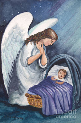 Painting - Guardian Angel by Lora Duguay